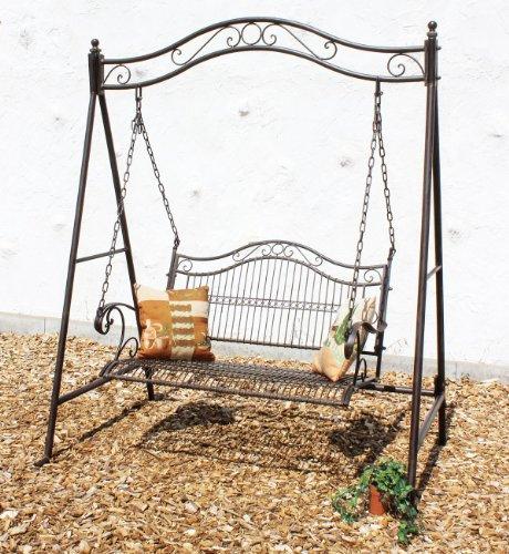#DanDiBo Hollywoodschaukel 2 Sitzer Schaukel Gartenschaukel aus Metall Antik 082505 Garten Schmiedeeisen#