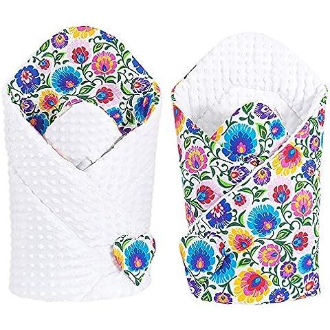 Sevira Kids Baby coperta–Reversibile–Fasce Minky–Diversi colori