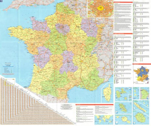 michelin-national-wall-map-of-france-administrative-a-encapsulated-in-gloss-plastic