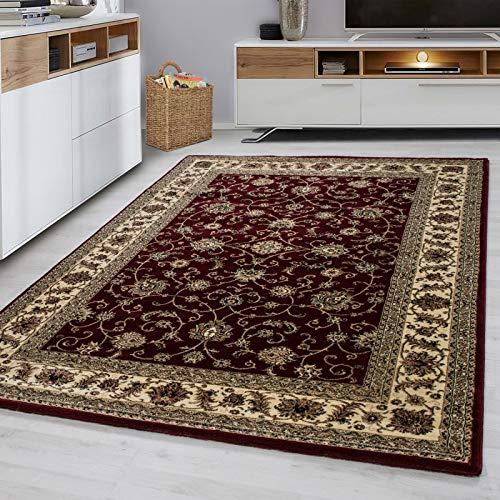 Fabelia Orientalischer Teppich Troja - Klassischer Teppich mit orientalisch-europäischen Designs (300 x 400 cm, Rot)