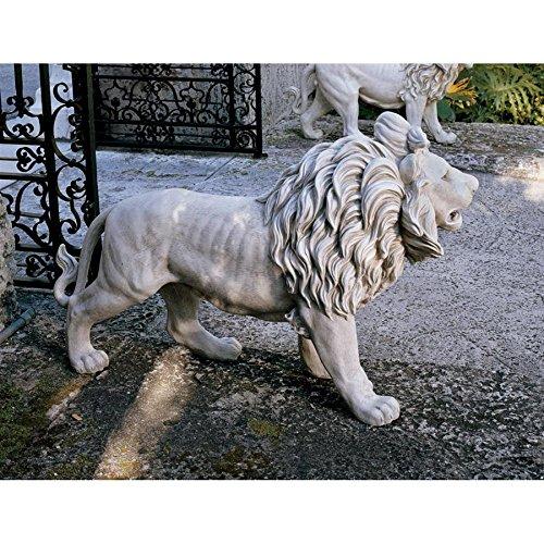 Design Toscano Majestätischer Wächterlöwe von Grisham Manor - Rechter Fuß vorne - Outdoor-löwen-statuen