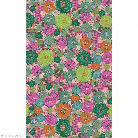 . 670 Packung mit 20 Blätter (395 x 298 mm, ideal für Ihre Papmachés) grün rosa, blumen ()