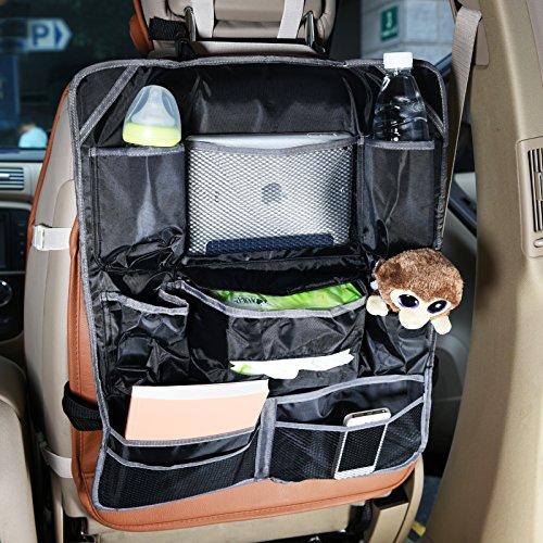 Preisvergleich Produktbild BAYTTER® Autositz-Organizer mit großer Kapazität für Flaschen, iPad, Tücher, Spielzeuge, Bücher usw. Kinder Rücksitztasche, wasserdict und leicht zu reinigen (grau)