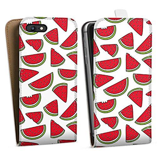 Apple iPhone X Silikon Hülle Case Schutzhülle Melone Sommer Essen Downflip Tasche weiß