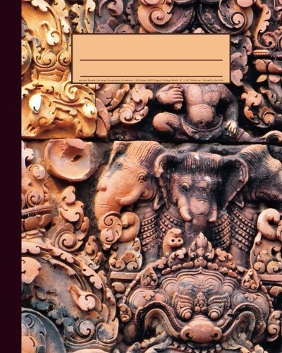 Ancient Temple Carvings Composition Notebook by Tri-Moon Press (2016-06-09)