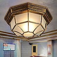BBSLT A forma di esagono bronzo industriale lampada retro portico