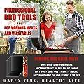 Airbin BBQ Grillmatte, 6er Set Grillmatte Backmatte für Holzkohle- Gas- oder Elektrogrill - Hitzebeständig, Pflegeleicht und Wiederverwendbar,Non Stick, FDA Zulässig, 40 x 33 cm