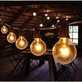 Catene Luminose Esterno, TOGAVE 36 Feet Luci Stringa Lampadina con 30+5 G40 Bulbi IP44 Impermeabile Lampadine da Esterno…