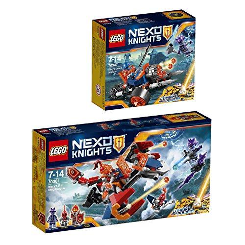 Preisvergleich Produktbild Lego NEXO Knights 2er Set 70361 70347 Macys Robo-Abwurfdrache + Bike koniglichen Wache