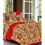 Jaipuri Style Bedsheet For Double Bed Cotton Jaipur Prints Bedsheets - Sanganeri Print