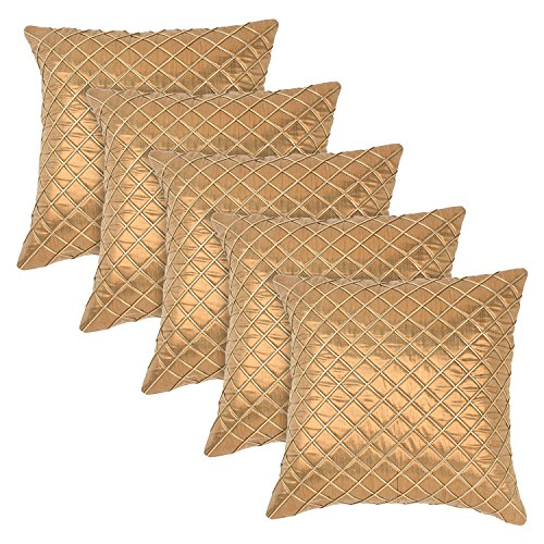 Eccellente Golden Cushion Cover 16 X 16 Set of 5