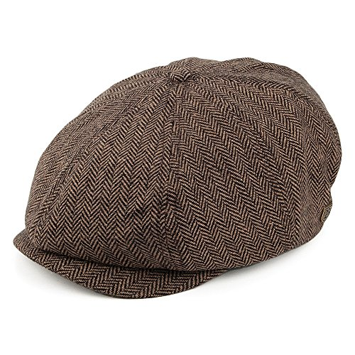 Casquette Gavroche à Chevrons Brood marron-khaki BRIXTON - Medium - 58cm