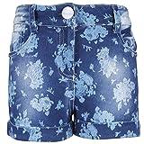 Cutecumber Girls Denim Floral Blue Short...