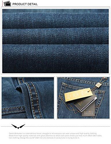 Demon & Hunter Herren Jeans Gerader Schnitt für 8003x 29, 8003/Nostalgie Blue, Gr. 29W/Regular DH8004 x Blau