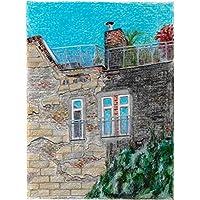 """Original Pastellzeichnung """"Die Dächer Berlins 5"""" von Ave Igor, Pastell auf Papier, Signiert, Handgemaltes   Pastel drawing """"Berlin's Roofs 5"""", Pastel on paper, directly from the artist   40 х 30 cm"""