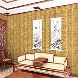DHG Paille Et Papier Peint Style Japonais Tatami Chambre Étude Chinois Restaurant Simulation Bambou Fond D'Écran,B,5,3 Mètres Carrés par Rouleau