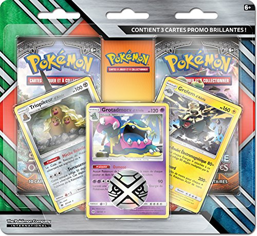 Pokemon - Coffret - Pack 2 Boosters + Cartes Promos, POBRAR10