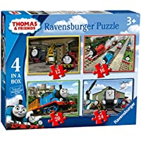 Thomas y sus Amigos - Puzzle Box 4 en 1 - 12, 16, 20, 24 Piezas Thomas & Friends