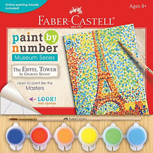 Faber Castell Faber Castell Paint By Number Museum Series The Eiffel Tower By Georges Seurat