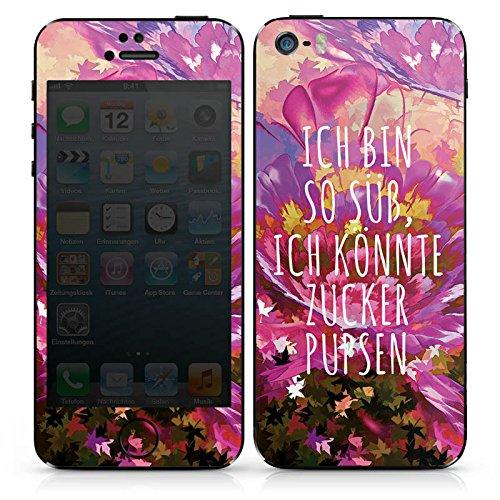 Apple iPhone SE Case Skin Sticker aus Vinyl-Folie Aufkleber sprüche statement sprueche DesignSkins® glänzend