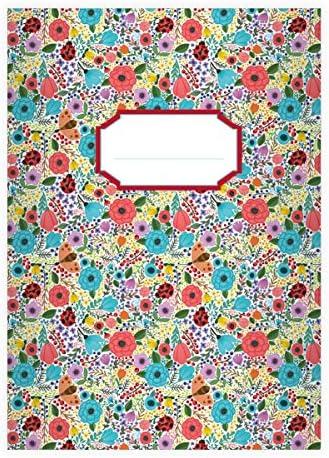32 cahiers fleurs d'éte avec des des des coccinelles, blanc, A4 (29,7x21; 32p), cahiers pour écrire, linéatur 21 (cahier fleurs d'éte ligné; sans bord) | Distinctif  ec5ba2