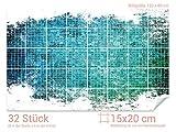 GRAZDesign 766108_15x20_80 Fliesenaufkleber Mosaik - Design für Deine Kacheln | Wand-Deko für Bad/Küchen-Fliesen (Fliesenmaß: 15x20cm (BxH)//Bild: 120x80cm (BxH))