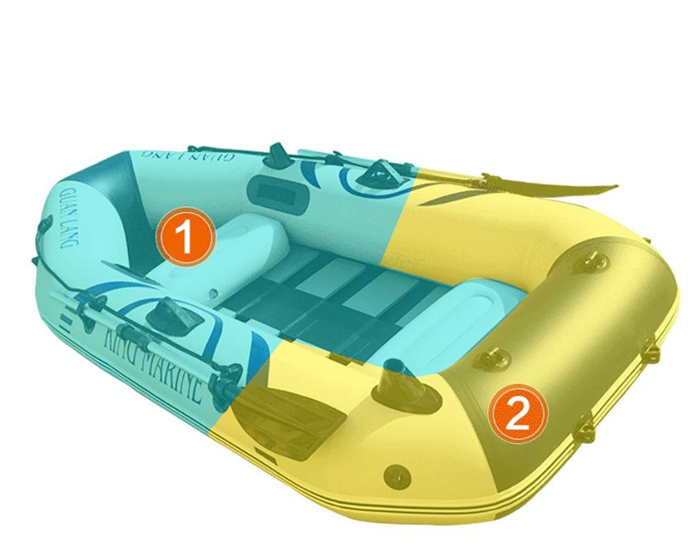 NUOAO Inflatable Boat Fishing Boat Assault Boat Rafting Boat (2 person)