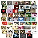 Postkarten Hochzeit / Liebespostkarten / Hochzeitsspiel 52 Wochen : jede Woche eine Postkarte - hochwertiges LEINENPAPIER für den besonderen Touch