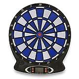 Nexos Dartscheibe Dartboard Dartautomat E-Dart Spiel – elektronisch batteriebetrieben – Set inkl. 6 Dartpfeile Spitzen 18 Spiele 158 Variationen