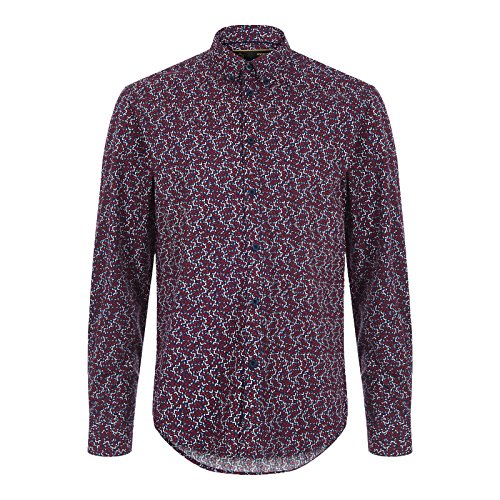 Merc of London Durham, L/S Floral Print Shirt, Chemise Casual Homme