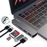 """OneOdio Hub USB C 6 in 1, adattatore hub C di tipo alluminio per MacBook Pro 13""""e 15"""" 2016/2017, 40 Gb Thunderbolt 3, ricarica pass-through, lettore di schede SD/Micro e 2 porte USB 3.0 di Freegene"""