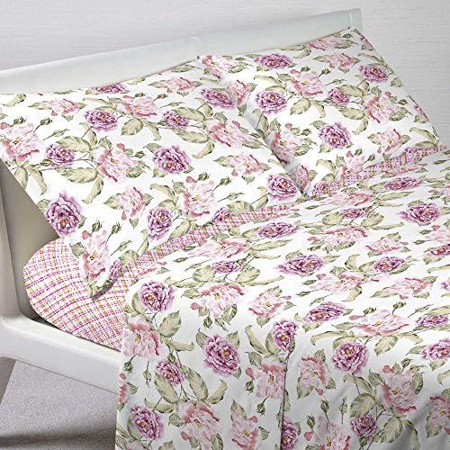 Telo arredo copritutto in 2 misure foulard multiuso telo tuttofare copridivano arredatutto copripoltrona floreale fiori classico - rosa - un posto