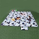 SONGMICS XXL 200 x 200 cm Picnic Blanket Waterproof Backing GCM71L