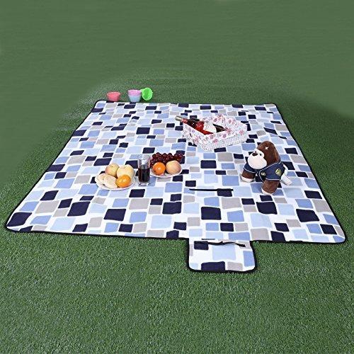 Songmics 200 x 200 cm XXL Picknickdecke Fleece wasserdicht - 2