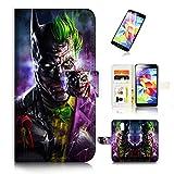 (pour Samsung S5, Galaxy S5) Portefeuille Flip Coque Protecteur d'écran et Bundle. A6688Batman Joker
