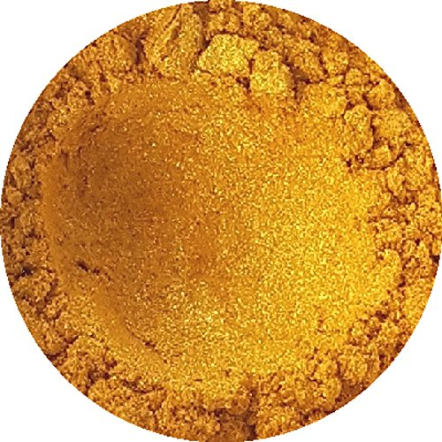 Golden Sparkle Cosmetic Mica Powder 3g-50g for Soap, Eyeshadow, Bathbombs (3g)