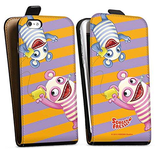 Apple iPhone X Silikon Hülle Case Schutzhülle Sorgenfresser Betti & Bill Fanartikel Merchandise Downflip Tasche schwarz