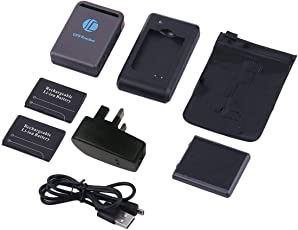 Funnyrunstore TK102B Portable Mini Präzise GPS/GSM / GPRS Tracker GPS Sender Ortung Locator Auto Auto Echtzeit Tracking Gerät (Farbe: Schwarz)