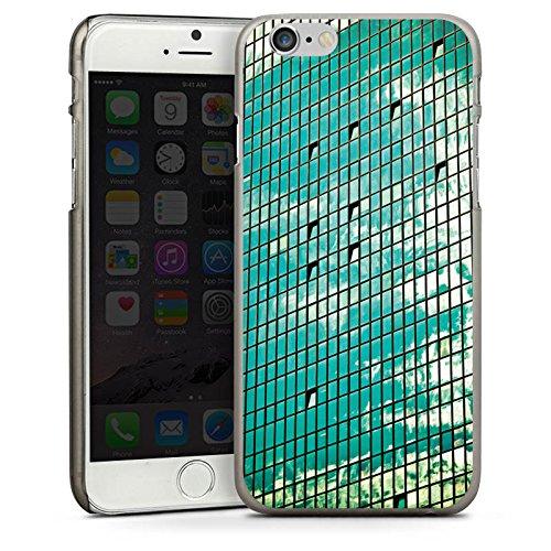 Apple iPhone 5s Housse Étui Protection Coque Fenêtre Fenêtre Fenêtre CasDur anthracite clair
