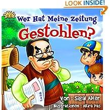 """Children's eBooks in German:""""WER HAT MEINE ZEITUNG GESTOHLEN?"""":kids ebooks, Kinderbücher deutsch, Kinderbuch deutsch(german children's book)German Bedtime ... Edition)German picture book (ONKEL JACK 1)"""