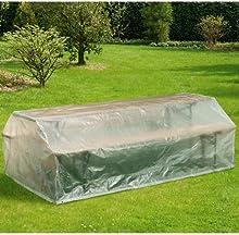 Funda para muebles de jardín, 220x 120cm, cubierta, transparente