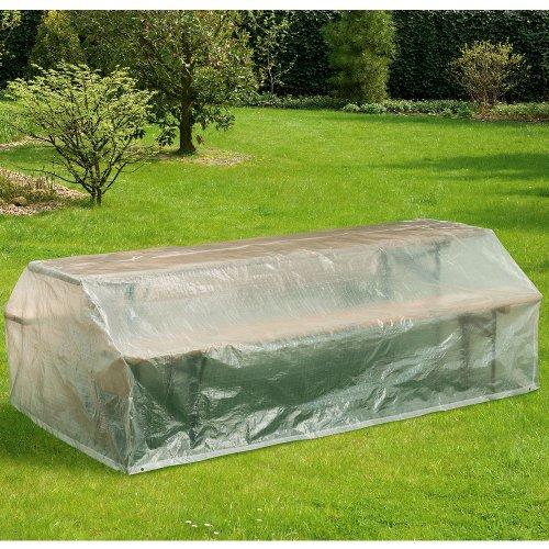 Schutzhülle für Bierzeltgarnitur, 220x120 cm, Abdeckhaube, transparent