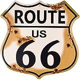 Dojune-Novelty Route 66 Highway - Targa in metallo, stile vintage, stile retrò, con scudo