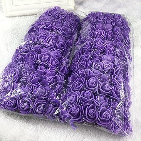 133pcs Rose Köpfe, künstliche Schaumstoff-Rosen Blumen, künstliche Blumen, Seide Blumen, Blumenstrauß, real touch Blume (Silk Petal Kleid)