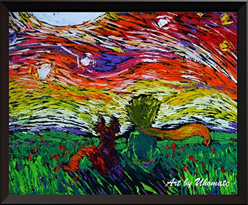 Uhomate il mio principe Fox My Prince VINCENT Van Gogh Starry Night Posters Home canvas Wall Art Anniversary Gifts Baby Gift nursery Decor Living Room Wall Decor A029, 20,32 x 25,4 cm