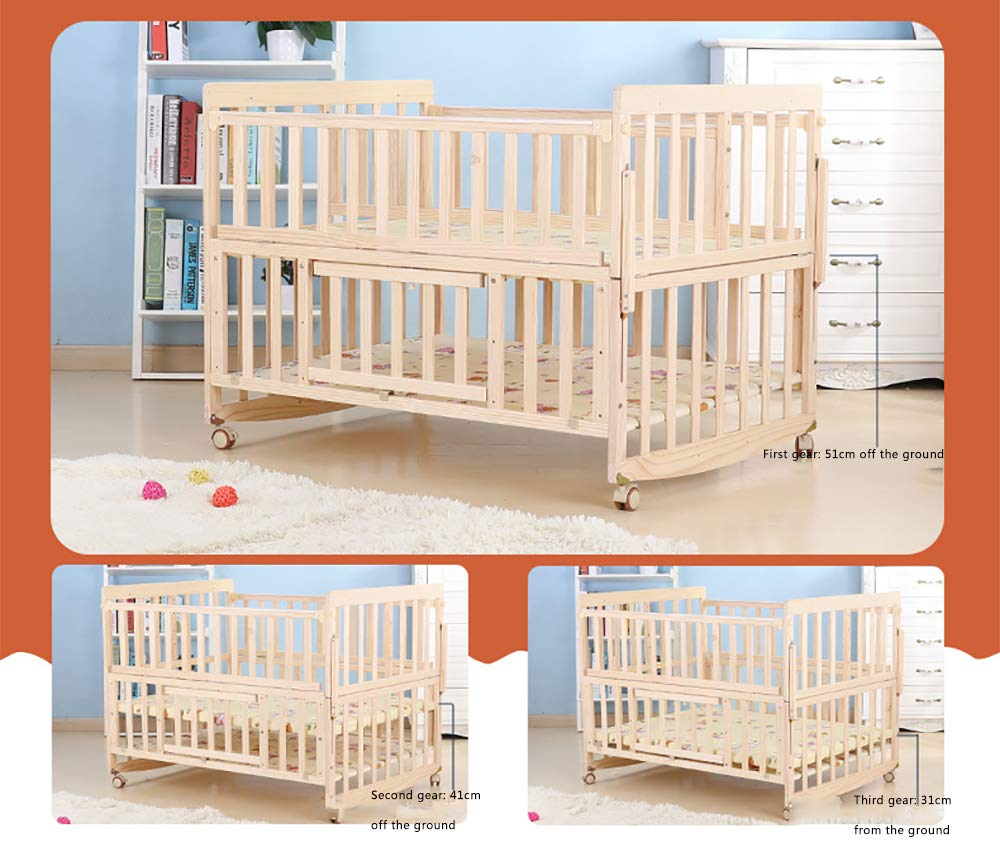 VBARV Solid Wood Environmentally Friendly Paint-free Twin Crib, Baby Double Child Bed, Queen Size Bed, Matching Seven-piece Set VBARV Environmentally friendly, no paint, made of pure solid wood, it is really for the health of the baby! Safe care, close to the natural colors, unique design style set the essence of a lifetime. Anti-corrosion and insect-proof, strong durability, anti-interference aging, corrosion resistance, water resistance, good coloration. 6