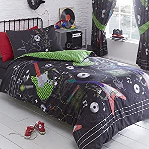 kidz wende club design gitarren rock single bettw scheset bettbezug und kopfkissenbezug. Black Bedroom Furniture Sets. Home Design Ideas
