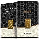 IGR Gold 2,5g Gramm Goldbarren 999.9 Geschenk Anlage Zertifiziert