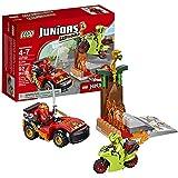 Lego Year 2016 Juniors Ninjago Series Set #10722 - SNAKE SHOWDOWN With Ninja Car