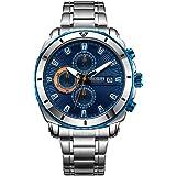 Orologi Uomo da Polso Orologio Cronografo da Uomo Movimento al Quarzo Moda Sportivo Watch 30M impermeabile Elegante Regalo pe